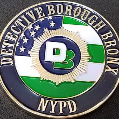 NYPD Chief of Detectives Bronx DBBX Challenge Coin