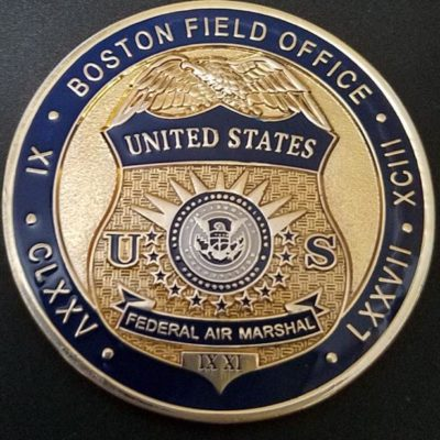 DHS TSA FAM US Federal Air Marshall Boston Field Office Challenge Coin