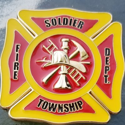 Soldier Township KS Fire Dept custom 2016 challenge coin