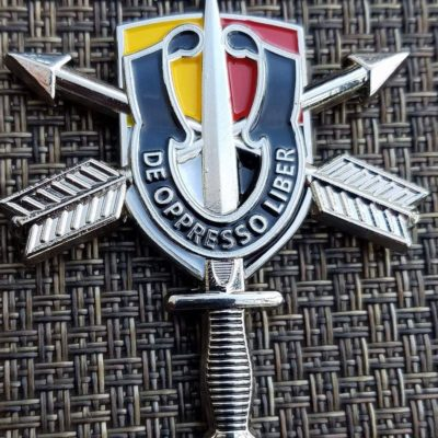 Rare US Army 3/3 SFG (A) 3rd Battalion 3rd Special Forces Group Airborne ODA 3335 Flash Shaped Challenge Coin Current