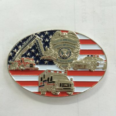 Badge of Honor Race Charity Challenge Coin